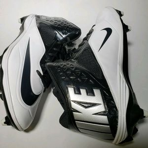 Nike White Black Lunar Code Pro 3/4 Cleats
